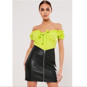 Missguided Faux Leather Skirt